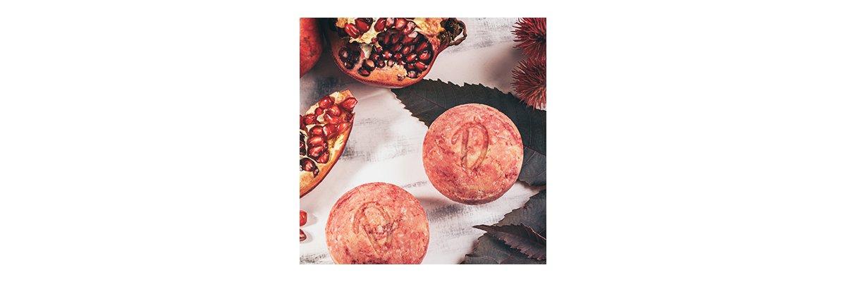 Duschkind festes Shampoo Granatapfel - natürliche Inhaltsstoffe vegan und pH-hautneutral - Granatapfel festes Shampoo sulfatfrei seifenfrei organische Fette bio natur pH-hautneutral