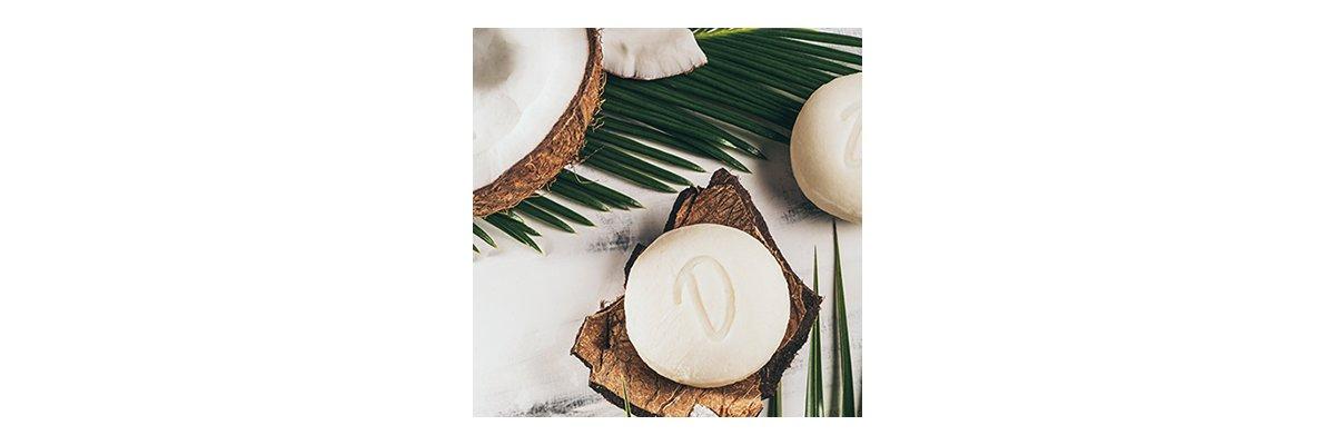 Duschkind festes Shampoo Kokos: Erlebe den sanften, cremigen Duft der Kokosnuss! - Festes Shampoo Kokos Pflegemittel für schöne Haare und samtweiche Haut pH-hautneutral