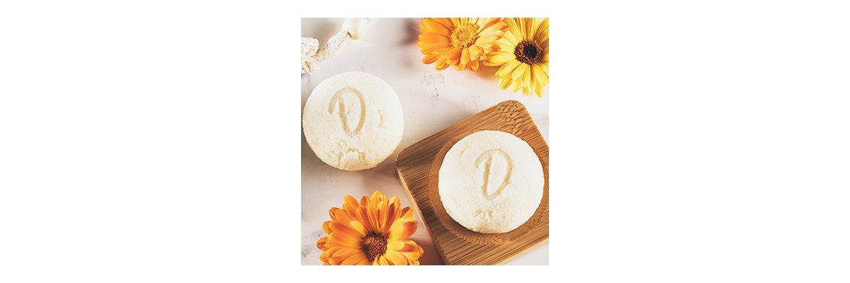 Duschkind festes Shampoo Calendula - natürliche Pflege pH-hautneutral aus der Ringelblume - Duschkind Calendula natürliche Pflege pH-hautneutral natürlich sulfatfrei