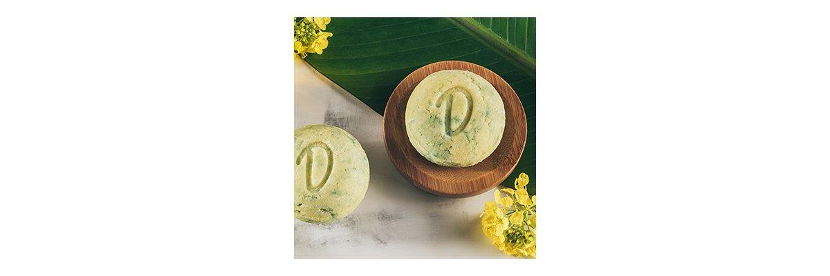 Duschkind festes Shampoo Brokkolisamenöl für mehr Fülle und Glanz im Haar - Duschkind Brokkolisamenöl vegan natur bio sanft zur Haut glänzende Haare