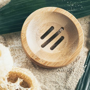 Duschkind Bambusablage rund